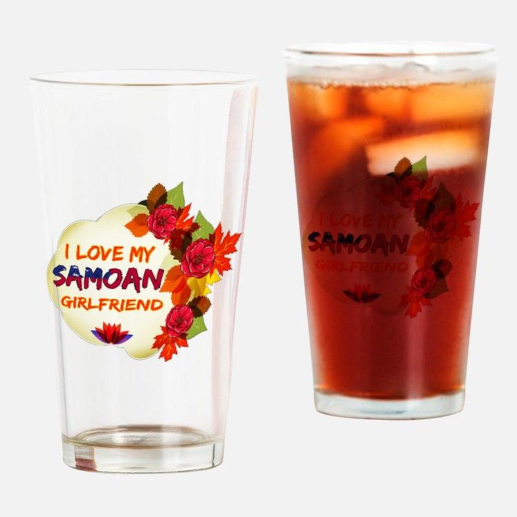 Samoan Girlfriend Valentine design Drinking Glass
