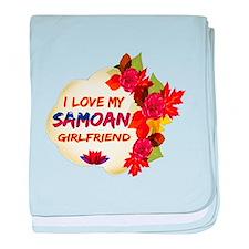 Samoan Girlfriend Valentine design baby blanket