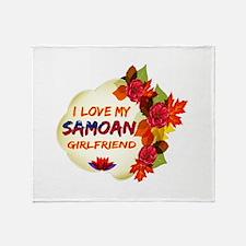 Samoan Girlfriend Valentine design Throw Blanket