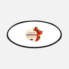 Samoan Girlfriend Valentine design Patches