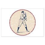 Baseball Player Large Poster