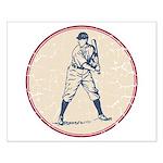 Baseball Player Small Poster