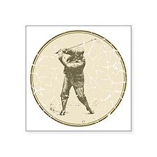 "Golfer Square Sticker 3"" x 3"""