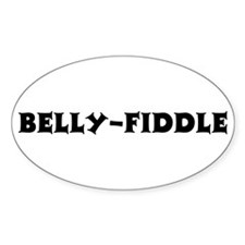 Belly-Fiddle Oval Decal