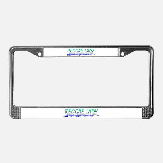 Reggae Lady License Plate Frame