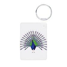 Peacock Aluminum Photo Keychain
