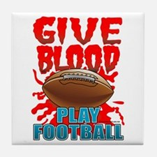 Give Blood Play Football Tile Coaster