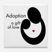 ADOPTION GIFT OF LOVE Tile Coaster