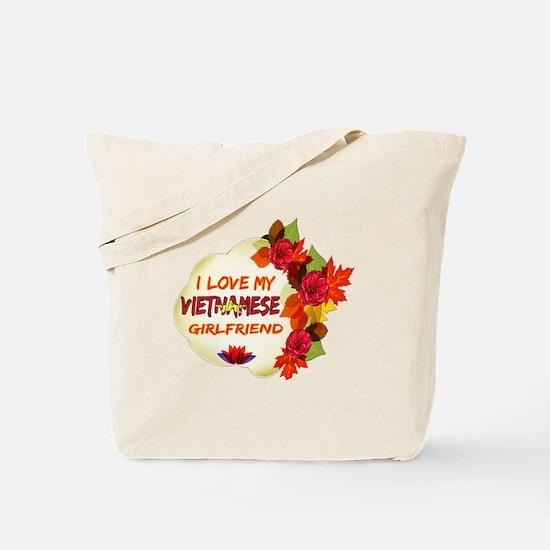Vietnamese Girlfriend Valentine design Tote Bag