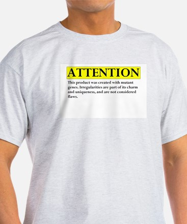 attention Ash Grey T-Shirt