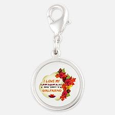 Yemeni Girlfriend Valentine design Silver Round Ch