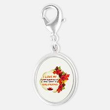 Yemeni Girlfriend Valentine design Silver Oval Cha
