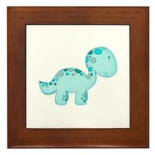 Dinosaur Blue Framed Tile