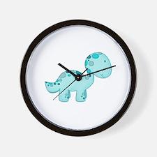 Dinosaur Blue Wall Clock