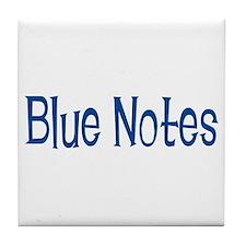 Blue Notes Tile Coaster