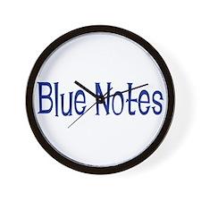 Blue Notes Wall Clock