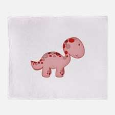 Baby Dino Red Throw Blanket