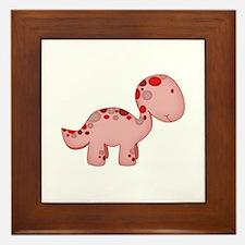 Baby Dino Red Framed Tile