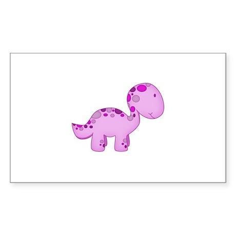 Baby Dino Purple. Sticker (Rectangle)