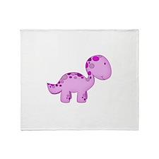 Baby Dino Purple. Throw Blanket