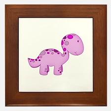 Baby Dino Purple. Framed Tile
