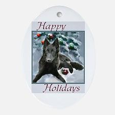 Belgian Sheepdog Ornament (Oval)