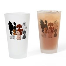 POODLECOLLAGECAFEPRESS.JPG Drinking Glass