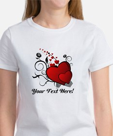 Personalized Red/Black Hearts Tee