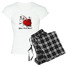 Personalized Red/Black Hearts Pajamas