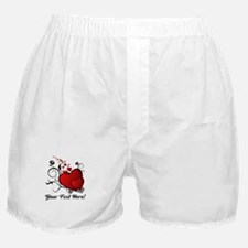 Personalized Red/Black Hearts Boxer Shorts