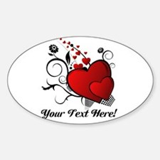 Personalized Red/Black Hearts Decal