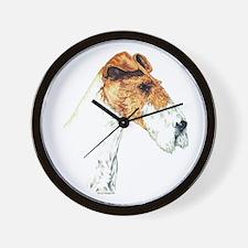 Wire Fox Terrier Art Wall Clock