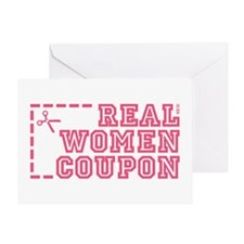 REAL WOMEN COUPON Greeting Card
