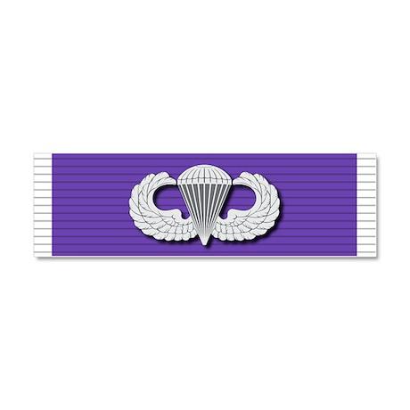 Airborne Purple Heart Car Magnet 10 x 3