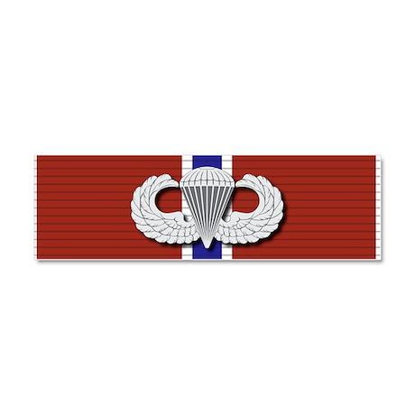 Airborne Bronze Star Car Magnet 10 x 3