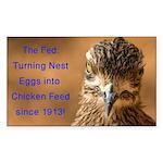 Chicken Feed Sticker (Rectangle 50 pk)