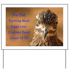 Chicken Feed Yard Sign