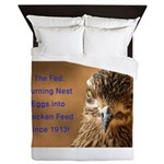 Chicken Feed Queen Duvet