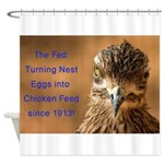 Chicken Feed Shower Curtain