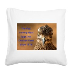 Chicken Feed Square Canvas Pillow