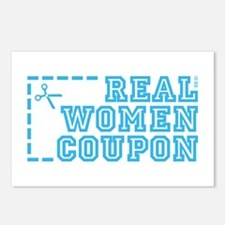 REAL WOMEN COUPON Postcards (Package of 8)