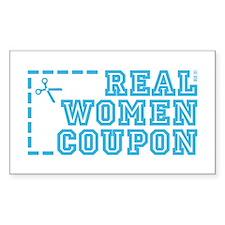 REAL WOMEN COUPON Decal