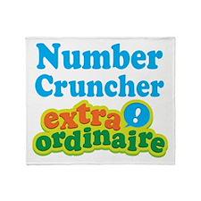 Number Cruncher Extraordinaire Throw Blanket