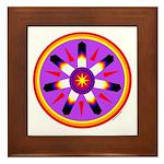 EAGLE FEATHER MEDALLION Framed Tile