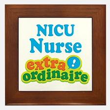 NICU Nurse Extraordinaire Framed Tile