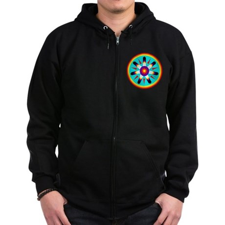 EAGLE FEATHER MEDALLION Zip Hoodie (dark)