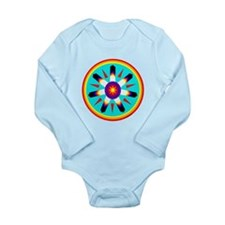 EAGLE FEATHER MEDALLION Long Sleeve Infant Bodysui