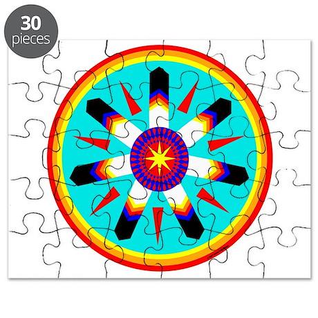EAGLE FEATHER MEDALLION Puzzle