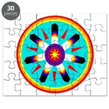 EAGLE FEATHER MEDALLION Puzzle