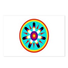 EAGLE FEATHER MEDALLION Postcards (Package of 8)